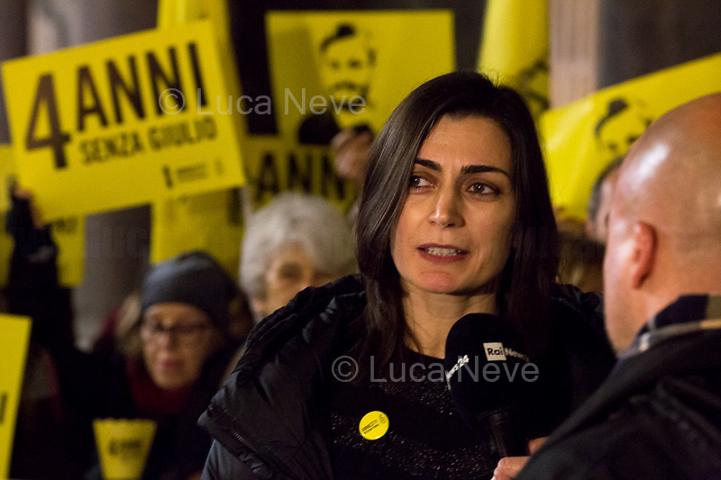"""Tina Marinari (Campaign Coordinator for Amnesty International Italia) interviewed by RAI.<br /> <br /> Rome, 25/01/2020. Today, hundreds of people gathered outside the Pantheon, and in several squares across Italy, to hold a candlelit vigil marking the fourth anniversary of the disappearance of Giulio Regeni. Regeni was an Italian Cambridge University graduate (PhD student at Girton College, Cambridge) who was kidnapped, tortured and killed in Egypt while he was researching Egypt's independent trade unions. The body of the 28-year-old Cambridge PhD student was found on a Cairo road on Wednesday 3rd of February 2016. According to the autopsy, Giulio died after a vertebra in his neck was fractured. Moreover, his body - found on the Cairo-Alexandria desert road - shown signs of tortures, abrasions - including marks similar to cigarette burns - and fractures. After four years of disinformation, """"depistaggi"""", reticence, misdirections, the role of the Cambridge University and the role of the Egyptian regime of the President Al-Sisi, after four years of a very difficult investigations for the Italian Police, the Regeni's family, Amnesty International and thousands of people are still calling for the immediate truth about this brutal assassination. <br /> <br /> Footnotes & Links: <br /> http://bit.do/fqv6c (Facebook event)<br /> https://www.amnesty.it/<br /> https://www.amnesty.it/4annisenzagiulio/<br /> https://www.facebook.com/veritaegiustiziapergiulioregeni/ <br /> https://giuliosiamonoi.wordpress.com  <br /> Book """"Giulio Fa Cose"""" (Ed. Feltrinelli): http://bit.do/fqv39"""