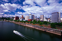 River and city skyline, Portland, Oregon