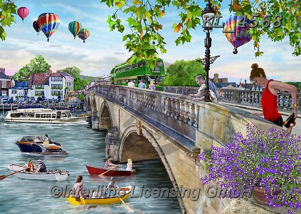 Interlitho-Franco LANDSCAPES, LANDSCHAFTEN, PAISAJES,paintings,KL_4568,#l#, EVERYDAY,London,puzzle,puzzles