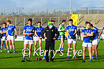 Kerry Manager Peter Keane with the Kerry team during the Allianz Football League Division 1 Round 7 match between Kerry and Donegal at Austin Stack Park in Tralee on Saturday.