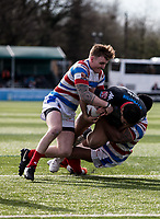 Mark Ioane of the London Broncosduring the Kingstone Press Championship match between London Broncos and Rochdale Hornets at Castle Bar , West Ealing , England  on 26 March 2017. Photo by Steve Ball / PRiME Media Images.