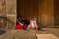 Mexican girls, dressed as La Catrina, a Mexican pop culture icon representing the Death, sit on the street during the Day of the Dead celebrations in Oaxaca, Mexico, 31 October 2019. Day of the Dead (Día de Muertos), a religious holiday combining the death veneration rituals of Pre-Hispanic cultures with the Catholic practice, is widely celebrated throughout all of Mexico. Based on the belief that the souls of the departed may come back to this world on that day, people gather together while either praying or joyfully eating, drinking, and playing music, to remember friends or family members who have died and to support their souls on the spiritual journey.