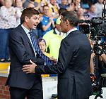 04.08.2019 Kilmarnock v Rangers: Steven Gerrard and Angelo Alessio