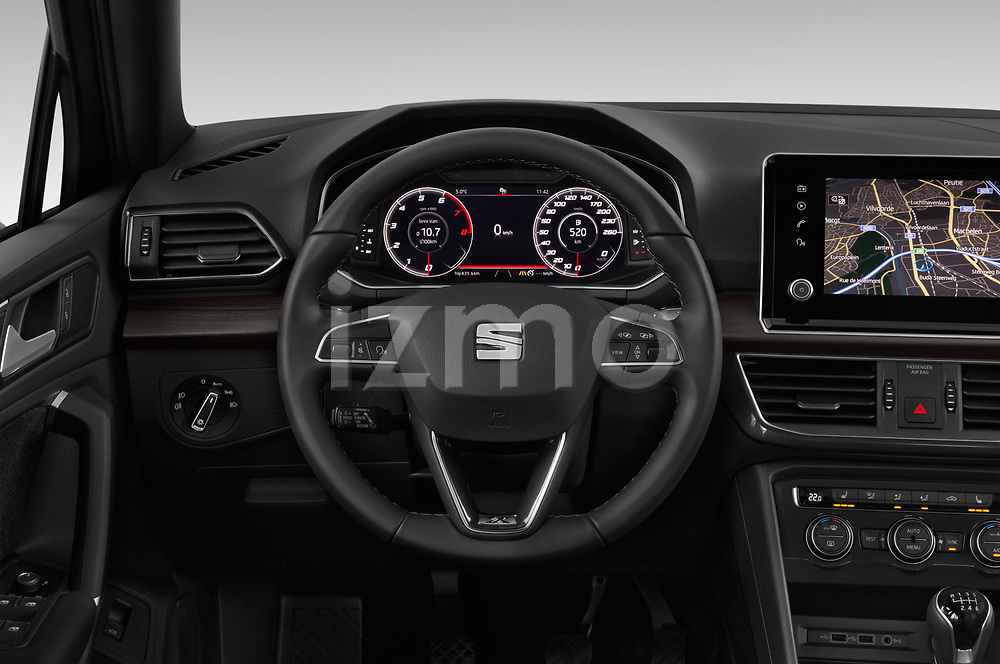 Car pictures of steering wheel view of a 2019 Seat Tarraco Xcellence 5 Door SUV Steering Wheel