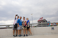 NASHVILLE, TN - SEPTEMBER 5: USA Fans take a photograph before a game between Canada and USMNT at Nissan Stadium on September 5, 2021 in Nashville, Tennessee.