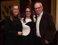 PASADENA, CA - JANUARY 17: (L-R) Race to the Center of the Earth Co-Creators/Executive Producers Elise Doganieri (L) and Bertram van Munster (R), and President, National Geographic Global Television Networks Courteney Monroe attend the National Geographic 2020 TCA Winter Press Tour Party at the Langham Huntington on January 17, 2020 in Pasadena, California. (Photo by Frank Micelotta/National Geographic/PictureGroup)