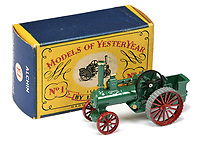 BNPS.co.uk (01202 558833)<br /> Pic: Vectis/BNPS<br /> <br /> Pictured: Matchbox Models of Yesteryear Y1 Allchin Traction Engine<br /> <br /> One man's vast collection of model cars amassed over a lifetime has sold at auction for an incredible £250,000.<br /> <br /> Simon Hope, 68, has been collecting matchbox models since he was a small child and has bought over 4,000 over the past six decades.<br /> <br /> His hobby has cost him thousands of pounds and at and engulfed a huge slice of his life but he has now decided to part with the toys