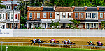 May 15, 2021: The field heads into the backstretch and city residents along Belvedere Avenue watch the race during the Preakness Stakes on Preakness Stakes Day at Pimlico Race Course in Baltimore, Maryland. Scott Serio/Eclipse Sportswire/CSM