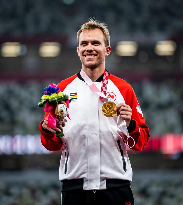 Nate Riech, Tokyo 2020 - Para Athletics // Para-athlétisme.<br /> Nate Riech runs to the gold in the men's 1500m T38 final // Nate Riech court à l'or de la finale des hommes de 1500 m T38. 04/09/2021.