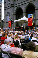 Montreal (Qc) CANADA - August 1999 - Montreal Symphonic Orchestra, directed by Charles Dutoit perform a free concert outside the Notre-Dame Basilica in Old-Montreal.