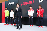 (L-R)  Lomano Lemeki, Yuki Tenma, Seiko Hashimoto, Ryohei Kato, Saori Yoshida (JPN), MAY 26, 2016 - : A press conference about presentation of Japan national team official sportswear for Rio de Janeiro Olympics 2016 in Tokyo, Japan. (Photo by Sho Tamura/AFLO SPORT)