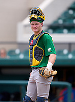 Steinbrenner Warriors catcher Tayden Hall during the 42nd Annual FACA All-Star Baseball Classic on June 6, 2021 at Joker Marchant Stadium in Lakeland, Florida.  (Mike Janes/Four Seam Images)