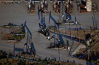 aerial photograph of oil pumpjacks in the San Ardo Oil Field, Monterey County, California