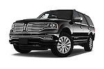 Stock pictures of low aggressive front three quarter view of a 2015 Lincoln Navigator 2Wd AT 5 Door Suv 2WD Low Aggressive