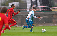 Alexander Figueiredo Gurendal (20) of Norway pictured in action during a soccer game between the national teams Under17 Youth teams of  Norway and Belgium on day 3 in the Qualifying round in group 3 on Tuesday 12 th of October 2020  in Tubize , Belgium . PHOTO SPORTPIX   DAVID CATRY