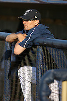 June 11th 2008:  Roving coach Tim Laker of the Lake County Captains, Class-A affiliate of the Cleveland Indians, during a game at Classic Park in Eastlake,OH.  Photo by:  Mike Janes/Four Seam Images