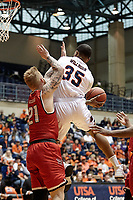 SAN ANTONIO, TX - MARCH 14, 2018: The University of Texas at San Antonio Roadrunners defeat the Lamar University Cardinals 76-69 in the first round of the CIT CollegeInsiders.com Postseason Tournament at the UTSA Convocation Center. (Photo by Jeff Huehn)