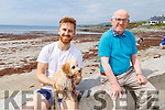 Graham Shane and Tony Kennedy enjoying the beach in Ballyheigue on Monday.