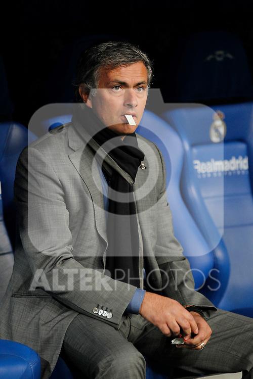 Real Madrid's Jose Mourinho during champions league match ..Photo: Cesar Cebolla  / ALFAQUI