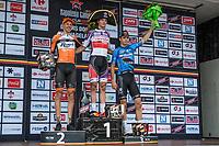 podium:<br /> <br /> 1st place: Mathieu Van der Poel (NED/Beobank-Corendon)<br /> 2nd place: Taco Van der Hoorn (NED/roompot)<br /> 3th place: Wout Van Aert (BEL/Veranda's WIllems-Crelan)<br /> <br /> 2nd Dwars door het Hageland 2017 (UCI 1.1)<br /> Aarschot > Diest : 193km