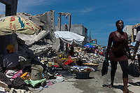 Port au Prince, Haiti, April 14, 2010.The city center, where most of Haiti's econmy is traded, is still mostly in ruins, 3 months after the earthquake.