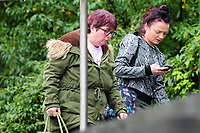 Pictured: Sophie Skinner (R) arrives at Newport Crown Court. Friday 12 October 2018 <br /> Re: Sophie Skinner was found guilty of perverting the course of justice – after making  a false allegation of rape and was sentenced to 18 months in prison by Newport Crown Court.
