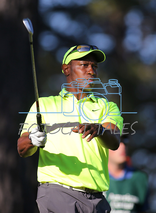 Former MLB player Kenny Lofton plays in the final round of the American Century Championship at Edgewood Tahoe Golf Course in Stateline, Nev., on Sunday, July 19, 2015. <br /> Photo by Cathleen Allison