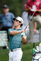 3rd July 2021, Detroit, MI, USA;   Joaquinn Niemann hits his second shot on the first hole on July 3, 2021 during the Rocket Mortgage Classic at the Detroit Golf Club in Detroit, Michigan.