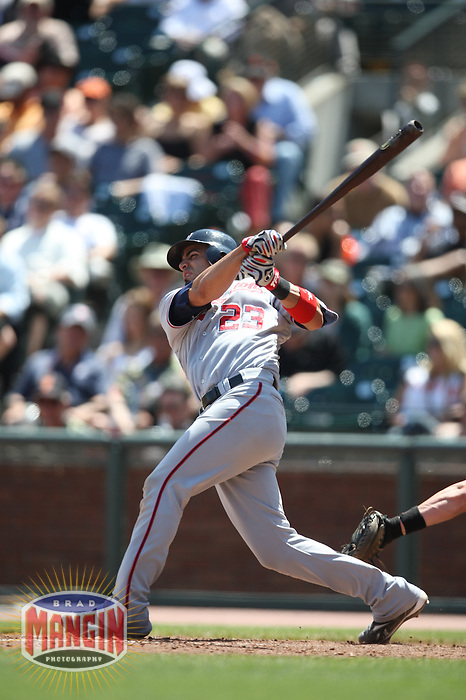SAN FRANCISCO - MAY 13:  Wil Nieves #23 of the Washington Nationals bats against the San Francisco Giants during the game at AT&T Park on May 13, 2009 in San Francisco, California. Photo by Brad Mangin