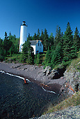 Rock Harbor lighthouse, at Isle Royale National Park, part of Michigan's Upper Peninsula. Lake Superior.