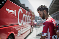 later winner Nacer Bouhanni (FRA/Cofidis) pre race. <br /> <br /> GP Marcel Kint 2018 <br /> Kortrijk > Zwevegem 174.8km (BELGIUM)