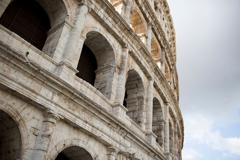 The Colosseum is seen on Wednesday, Sept. 23, 2015, in Rome, Italy. (Photo by James Brosher)