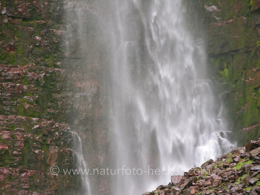 Wasserfall, Bach, Kaskade, Wasser-Fall an einem Bach, Waterfall, cascade, stream