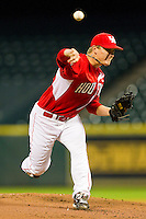 Starting pitcher Chase Wellbrock #15 of the Houston Cougars in action against the Texas A&M Aggies at Minute Maid Park on March 6, 2011 in Houston, Texas.  Photo by Brian Westerholt / Four Seam Images