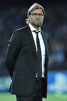 NAPLES, Italy - September 18, 2013: Napoli beats Borussia Dortmund 2-1 during the Champions League match in San Paolo Stadium.