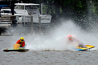 Frame 12: 300-P comes together with 911-Q, turns away and then is ejected from the boat.   (Outboard Hydroplanes)