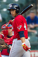 Oklahoma City Redhawks outfielder George Springer #4 AAA during the Pacific Coast League baseball game against the Round Rock Express on April 3, 2014 at the Dell Diamond in Round Rock, Texas. The Redhawks defeated the Express 7-6 in the season opener for both teams. (Andrew Woolley/Four Seam Images)