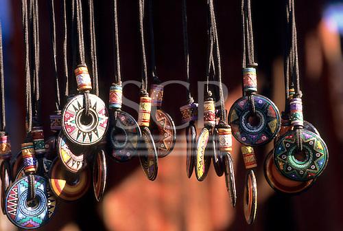 Peru. Hand painted ceramic pendants.