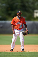 GCL Astros first baseman Cristopher Luciano (23) during the first game of a doubleheader against the GCL Mets on August 5, 2016 at Osceola County Stadium Complex in Kissimmee, Florida.  GCL Astros defeated the GCL Mets 4-1 in the continuation of a game started on July 21st and postponed due to inclement weather.  (Mike Janes/Four Seam Images)