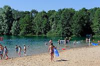 Honig-Beach am Silbersee in  Niedernberg am Main, Bayern, Deutschland
