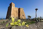 Spain, Andalusia, Province Almería, Costa de Almería, Mojacar Playa: Castillo de Macenas, built in early 18th century | Spanien, Andalusien, Provinz Almería, Costa de Almería, Mojacar Playa: Castillo de Macenas, erbaut im fruehen 18. jahrhundert