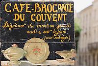 """Europe/France/Aquitaine/33/Gironde/ Bordeaux: Enseigne du Restaurant """"Café Brocante du Couvent"""" 23 rue du Couvent"""