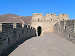 Watchtower on the Great Wall of China near Beijing, China.