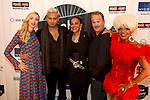 NYC Celebrity Hair Stylist Mark De Alwis at Soho Johnny's Holiday Soiree Legendary Drag Queen China at sohojohnny's Holiday soiree Colin hogan Award Winning Recording Artist Kim Sledge  of The Sledge Sister. Kim Sledge member of the award winning band Sister Sledge Fashion Influencer Simonetta Lein at Soho Johnny's Holiday Soiree NYC