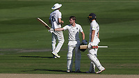 Robbie White celebrates scoring a century for Middlesex during Sussex CCC vs Middlesex CCC, LV Insurance County Championship Division 3 Cricket at The 1st Central County Ground on 7th September 2021