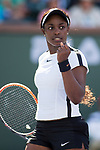 March 11, 2018: Sloane Stephens (USA) defeated Victoria Azarenka (BLR) 6-1, 7-5 at the BNP Paribas Open played at the Indian Wells Tennis Garden in Indian Wells, California. ©Mal Taam/TennisClix/CSM