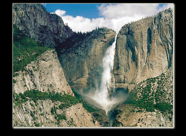 """Lots of water in the """"range of light."""" Yosemite Falls, Yosemite National Park, California."""