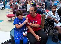 Philadelphia, PA - August 28, 2019:  Members of the USWNT visited Seacrest Studios at the Philadelphia Children's Hospital