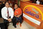 Dr. Cesar Nunez and emcee Ayana Mack at the University of Texas M.D. Anderson Cancer Center and The Galleria's Back to School Fashion Show benefitting pediatric cancer patients at The Galleria Saturday August 25,2012.(Dave Rossman Photo)