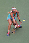 Kiki Bertens (NED) loses to Serena Williams (USA) 7-6, 6-3 at the US Open in Flushing, NY on September 2, 2015.